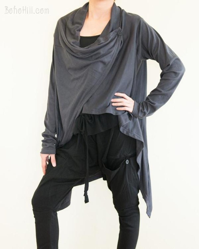 Cardigan soft i Charcoal - One size