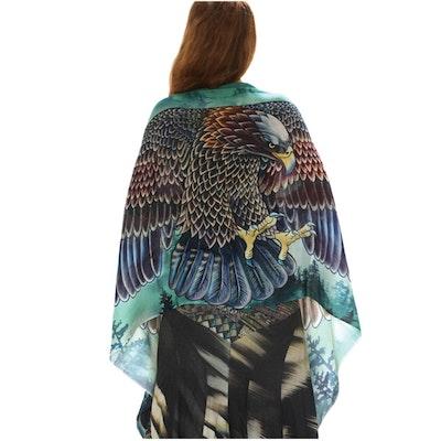 Sjal med vingar från Shovava - Eagles wings pine