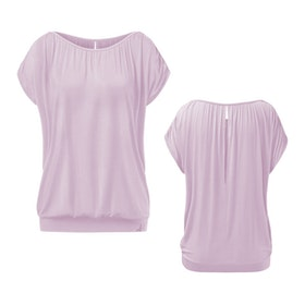 Yogatopp Top Crinkled shoulder Rose från Curare Yogawear