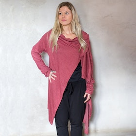 Cardigan soft i Rusty Red - One size