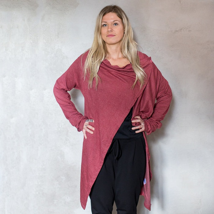 Cardigan soft i Rusty Red - One size