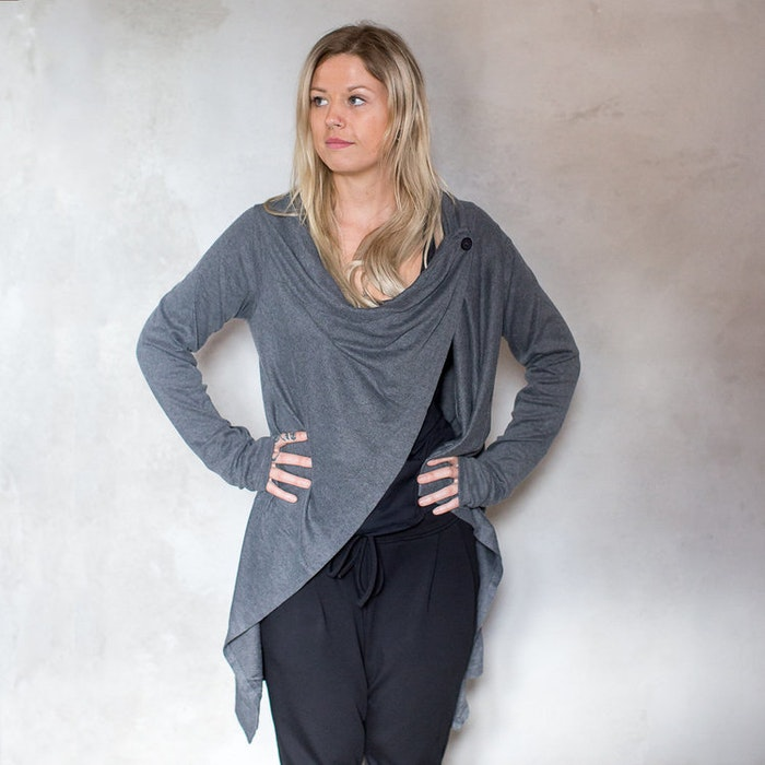 Cardigan soft i Heather grey - One size