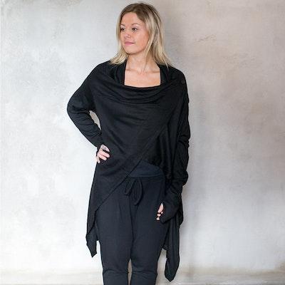 Cardigan soft i svart - one size