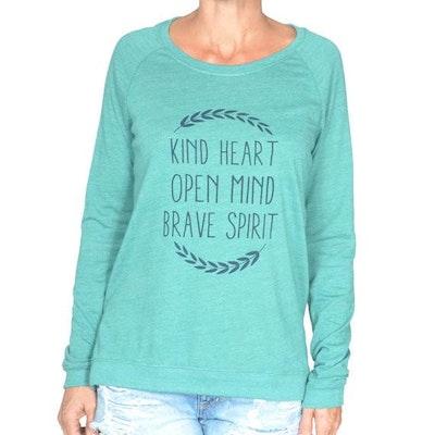 Långärmad Tröja Kind Heart från SuperLove Tees - grön