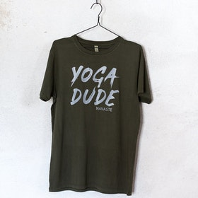 "T-shirt ""Yoga Dude"" Khakigrön - Soul Factory"