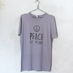 "T-shirt ""Peace Of Mind"" Grå - Yogia"