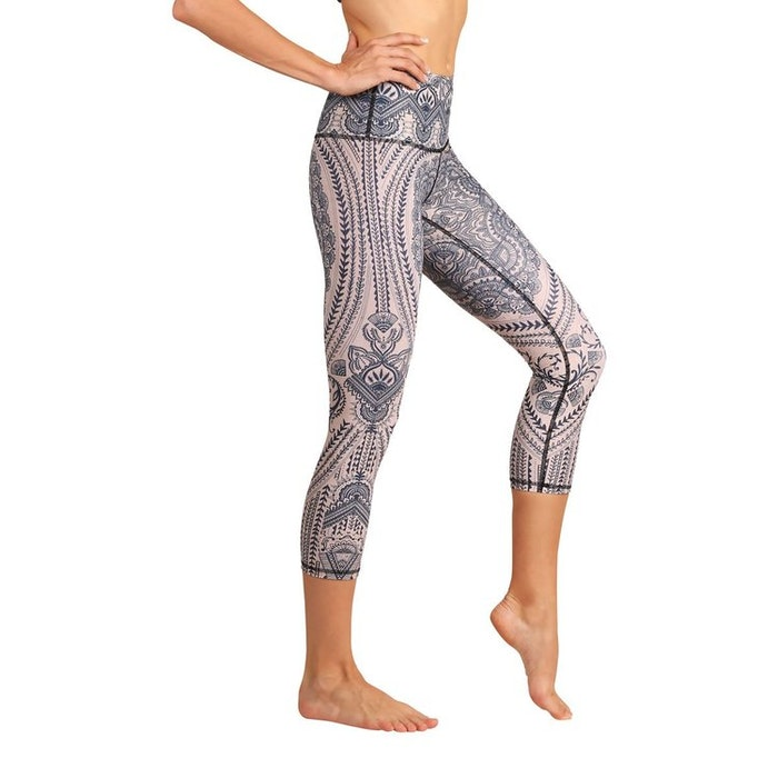 "Yogaleggings ""Henna my heart"" från Yoga Democracy - Crops"