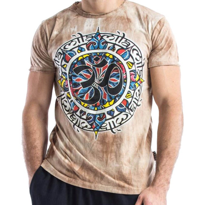 Yogatröja Man Infinitee Ohm från Sure Design - Brunmelerad