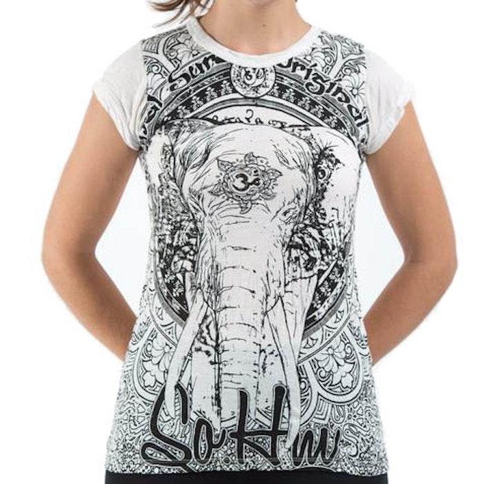 Yogatröja Wild Elephant från Sure Design - Vit