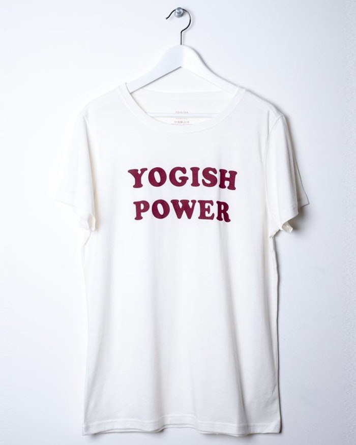 "Tröja Kim Unisex ""Yogish Power"" från Yogish Collective - Coconut milk"