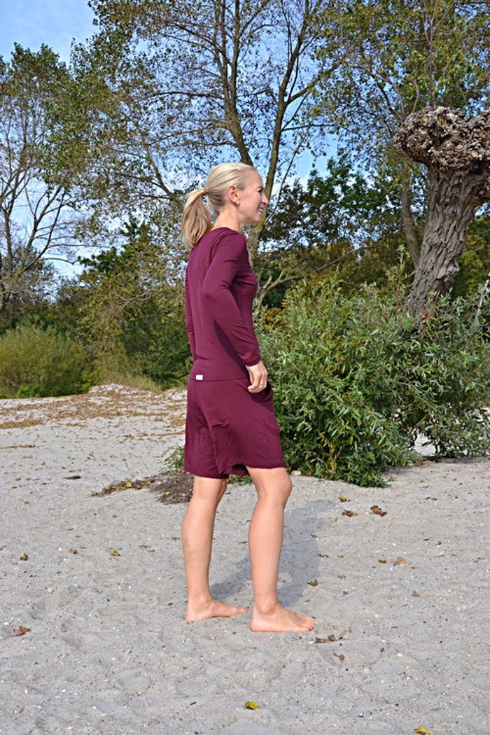 Shorts bambu vinröd - Pura of Sweden