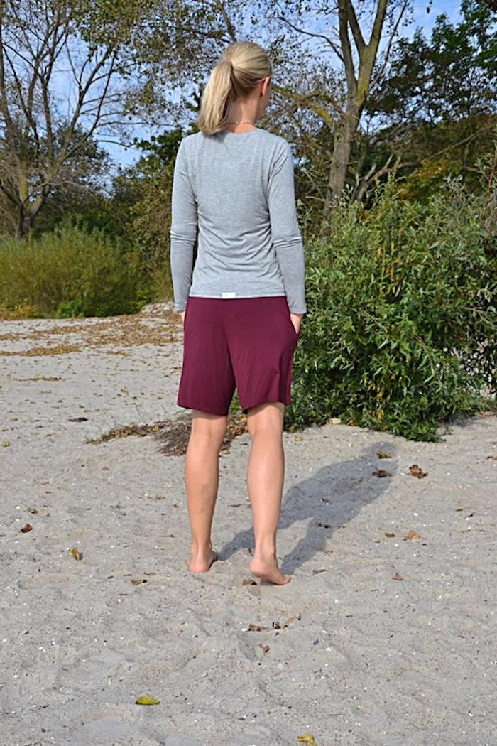 Bambu shorts vinröd från Pura of Sweden