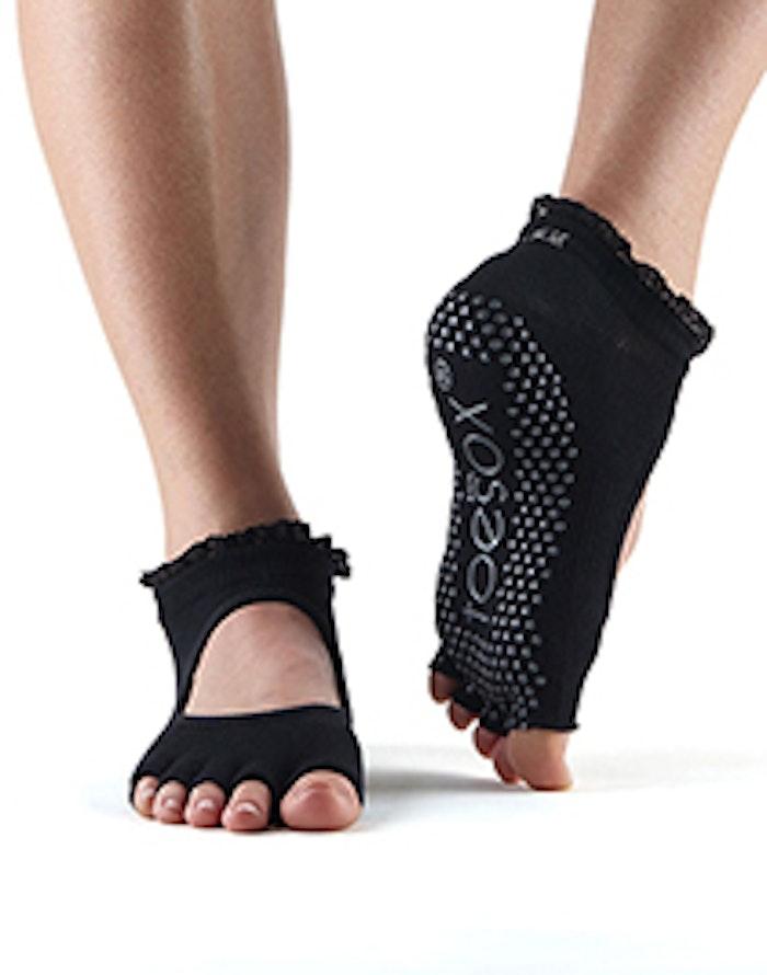 Yogastrumpor Toesox Halftoe Bella Grip - Black Lace Small