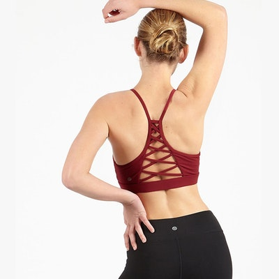 Yoga Cherry Criss cross bra från Dharma Bums