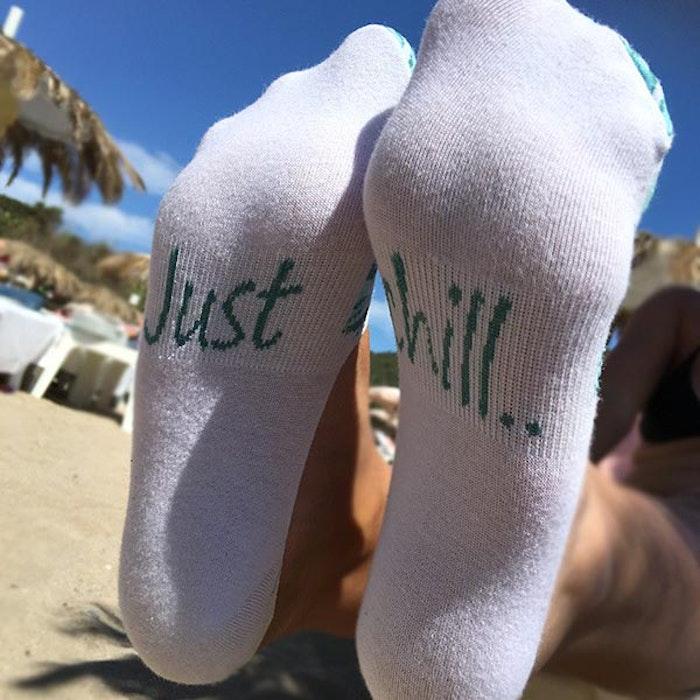 Strumpor/sneackersocks Palm - Love Ibiza