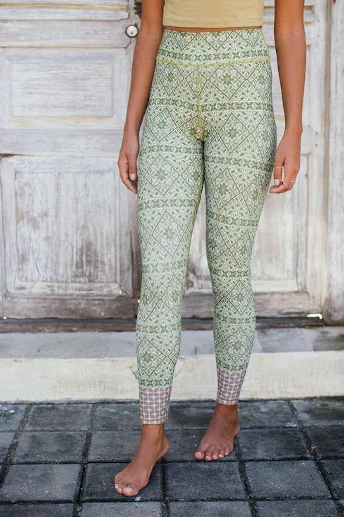 Yogaleggings Samsara Legging - Rani Green -  från Indigo Luna