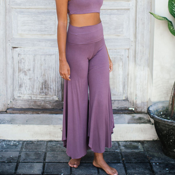 Yogabyxor Alora Pants - Eggplant från Indigo Luna
