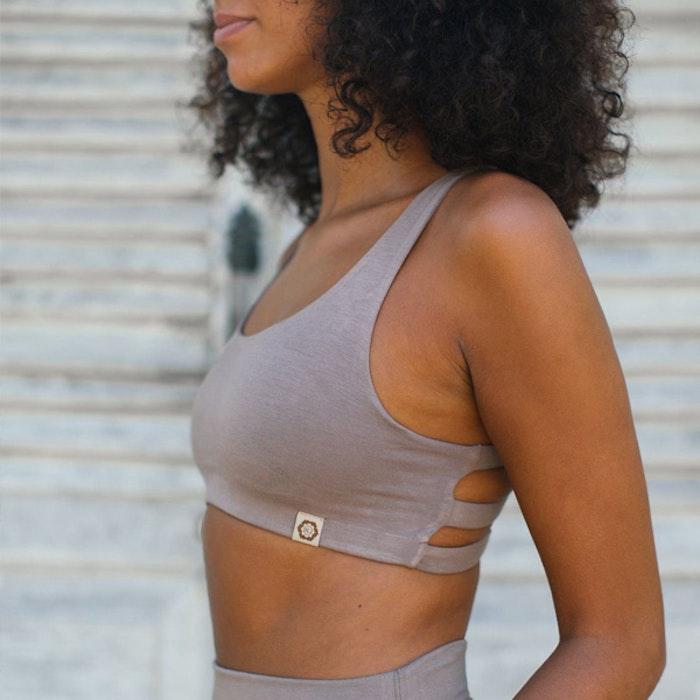 Sport-BH Yoga Boxy crop top Sable - Indigo Luna