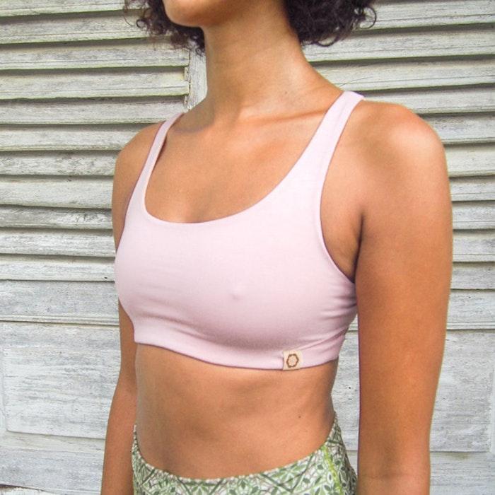 Yogatopp Boxy crop top - Ballet pink från Indigo Luna