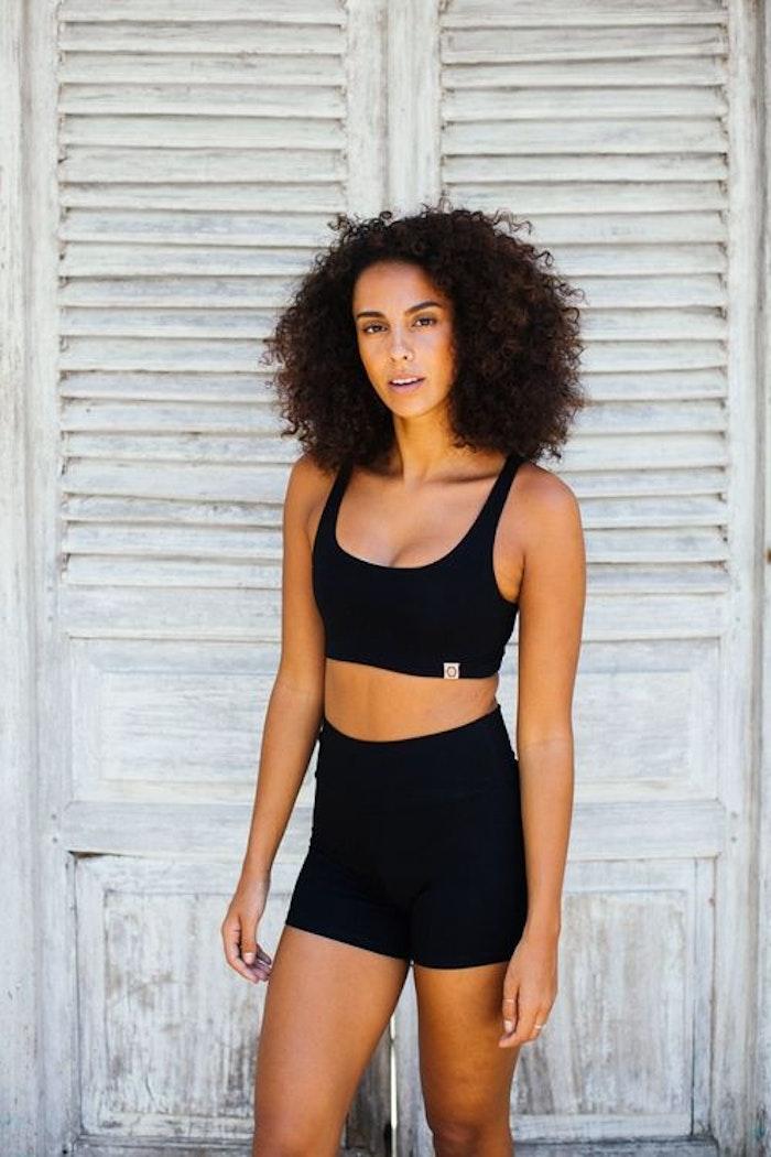 Sport-BH Yoga Boxy crop top Black - Indigo Luna