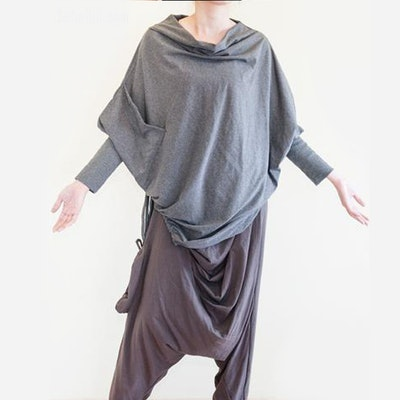 Poncho dark grey