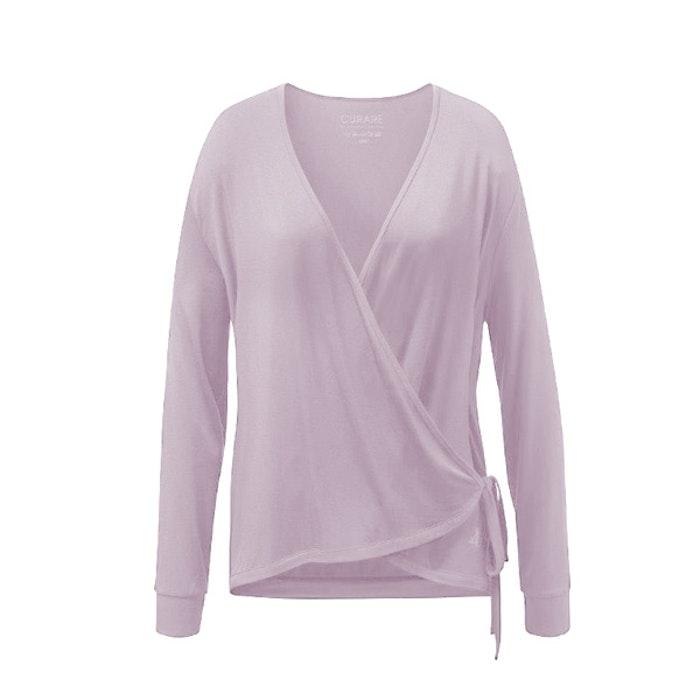 Yogatopp Wrap Jacket Rose från Curare Yogawear