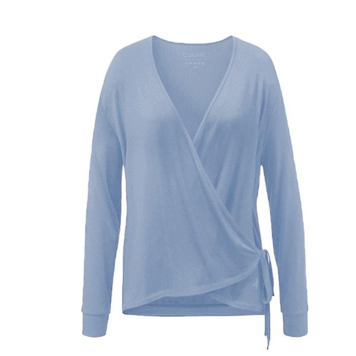 Yogatopp Wrap Jacket Blue Moon från Curare Yogawear