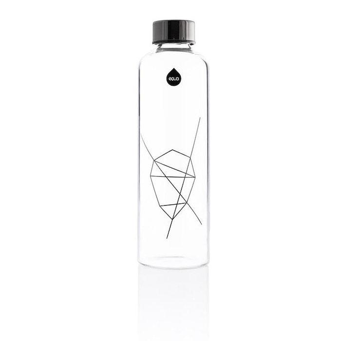 Vattenflaska Mismatch Graphite i glas