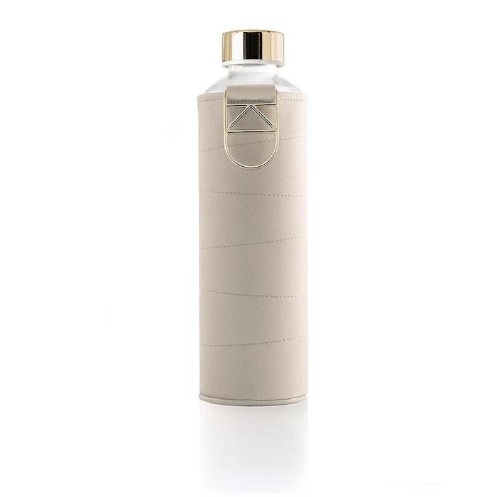 Vattenflaska Mismatch Beige i glas - Equa