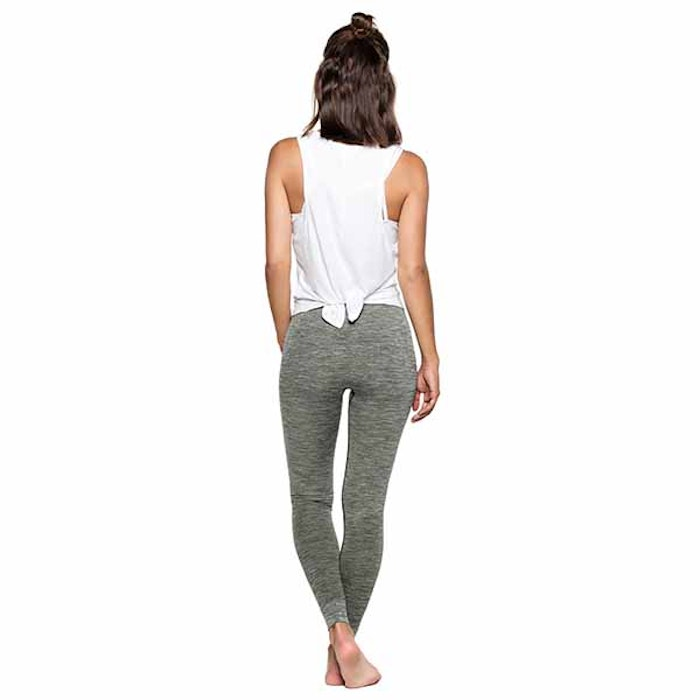 Yogaleggings Bandha Olive Green & White från Run & Relax