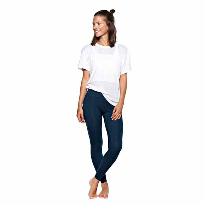 Yogaleggings Bandha Midnight Blue Melange från Run & Relax
