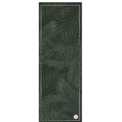 Yogamatta Palm Green black travel mat - Grounded Factory