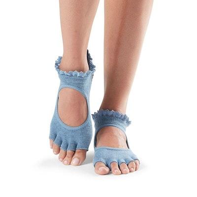 Yogastrumpor Toesox Halftoe Bella Grip - Denim Lace