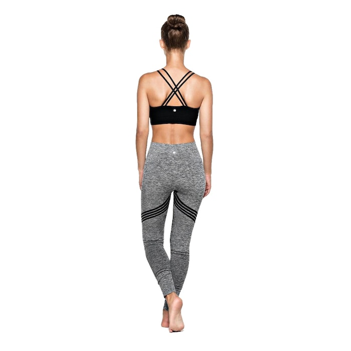 Yogaleggings Bandha Arrow Stripe Black / White - Run & Relax