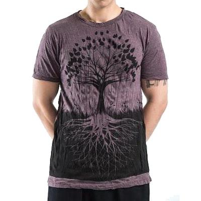 Yogatröja Man Tree of Life från Sure Design - Russin
