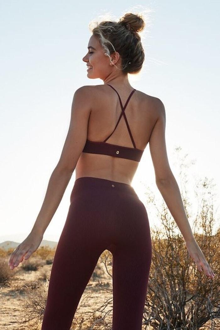 Sport-BH Yoga Selene triangle bra Wine - Spiritual Gangster