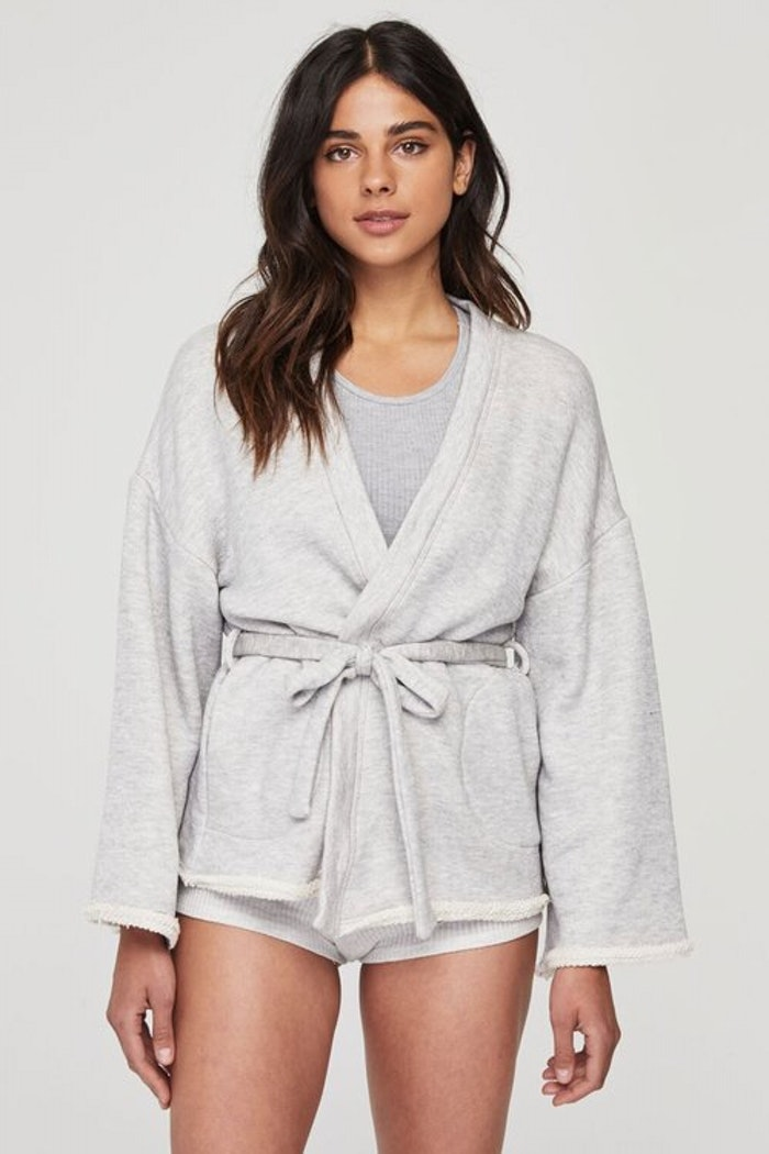 Embroidered wrap kimono - Spiritual Gangster