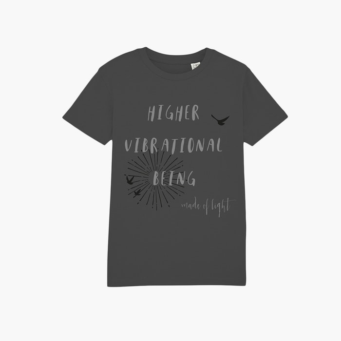"T-shirt barn ""Higher Vibrational Being"" Anthracite - Mia of Sweden"