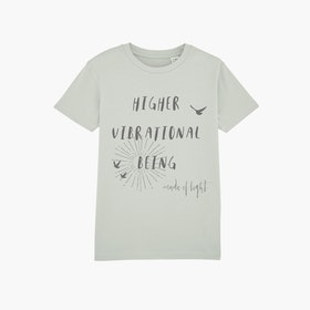 "T-shirt barn ""Higher Vibrational Being"" Opaline - Mia of Sweden"