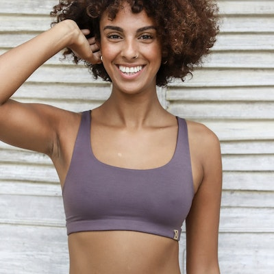 Sport-BH Yoga Boxy crop top Charcoal - Indigo Luna