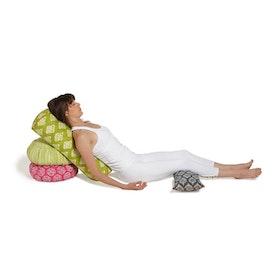 "Yogabolster Rund ""Kiwi Ikat"" - Chattra"