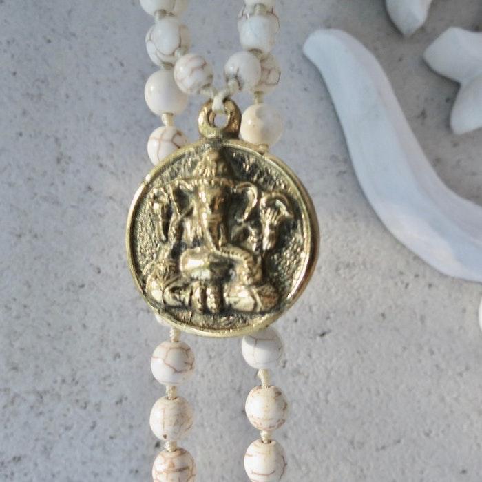 Halsband Magnesit  / Ganesha - RAJ 108