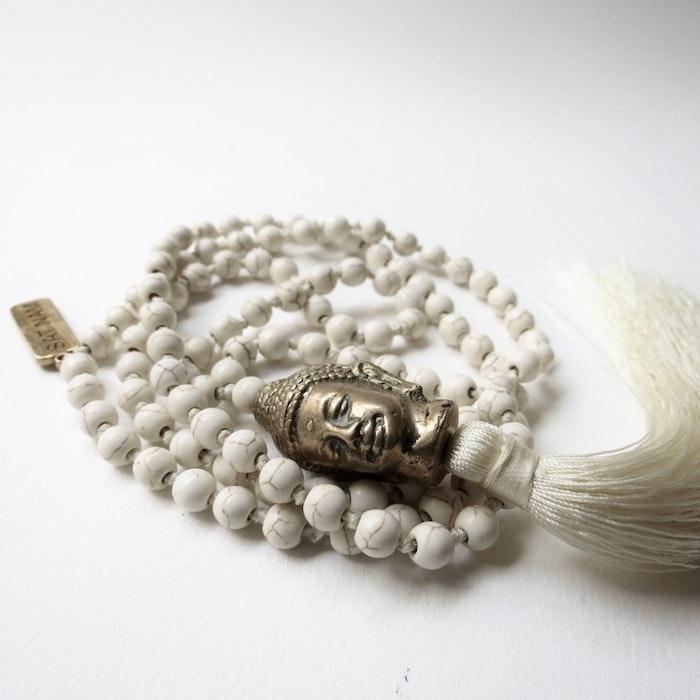 Halsband Magnesit  / Buddha - RAJ 108