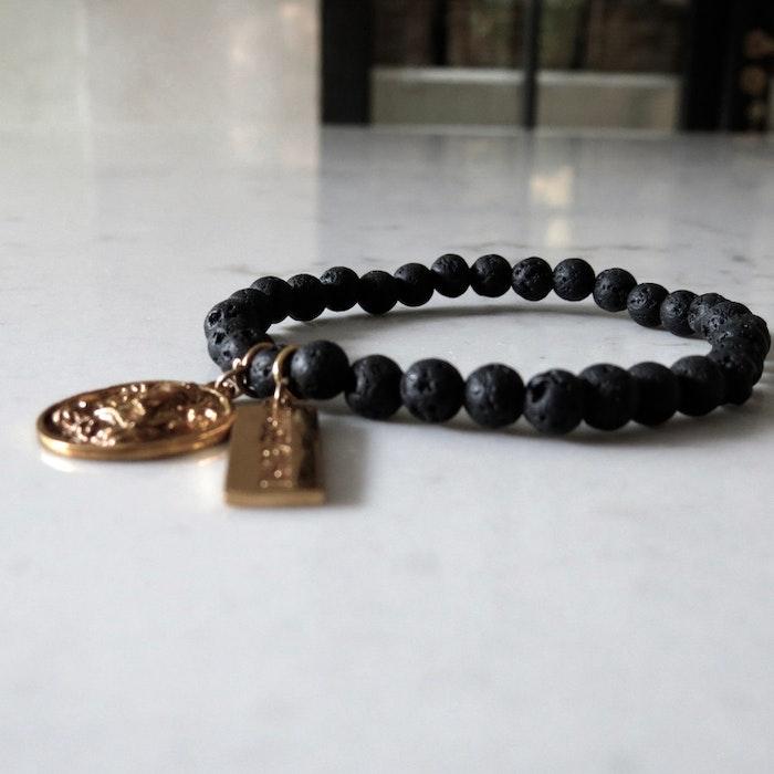Armband Black Lava Ganesha - RAJ 108