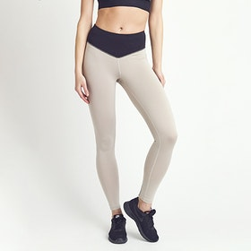 Yogaleggings BOW II Putty Black & Creme - DOM