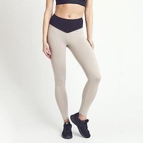 Yogaleggings Putty Black & Creme - DOM