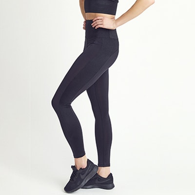 Yogaleggings Emma Black Shine - DOM