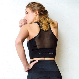 Yogatopp Mila från DOM - Black Shine