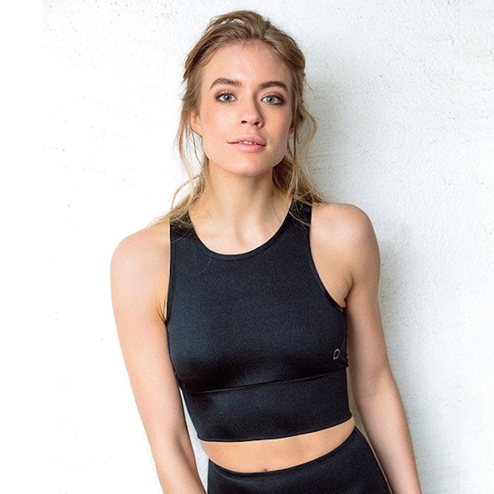 Yogatopp Mila Black Shine - DOM