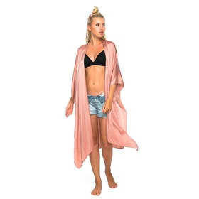"Luxe silk kimono long ""Musk"" - Warriors of the divine"